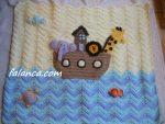 Tığ İşi Bebek Battaniye Modelleri - 6