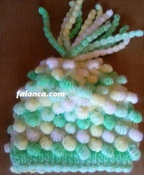 Saçaklı Yeni Doğan Bebek Şapkası 1
