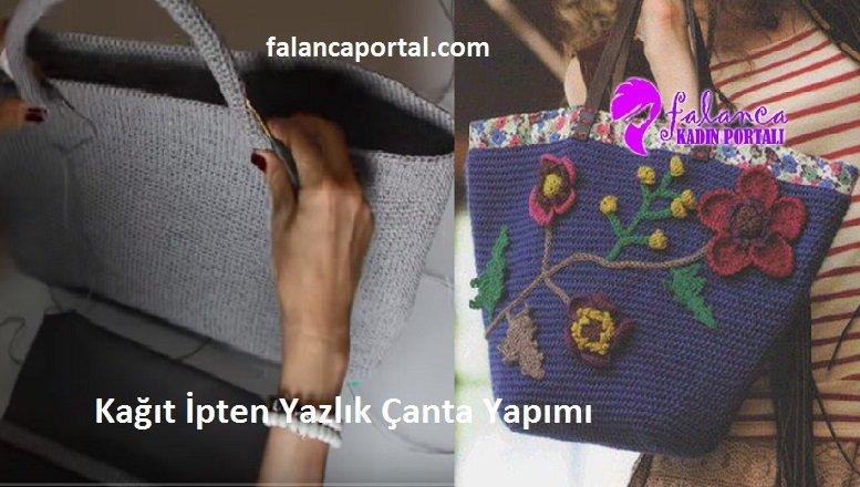 Kağıt İpten Yazlık Çanta Yapımı
