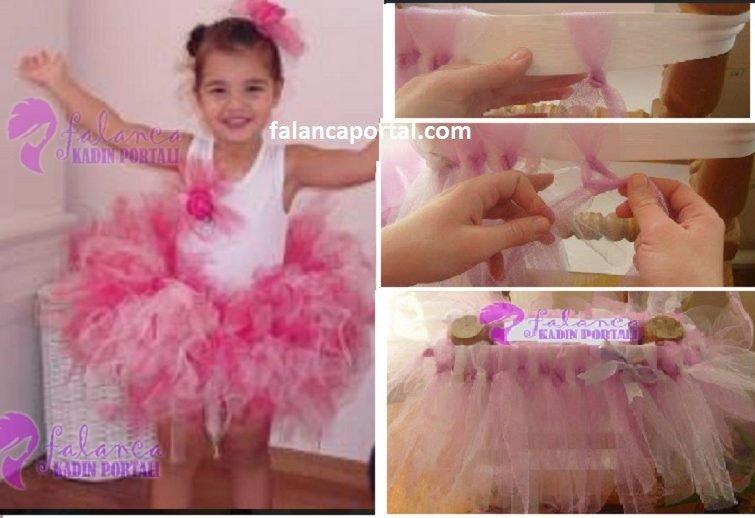 Tütü Çocuk Elbise Yapılışı 2