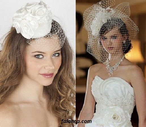 Şapkalı nikah elbiseleri