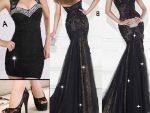 2015 Siyah Elbise Modasi 2