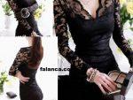 2015 Siyah Elbise Modasi 9