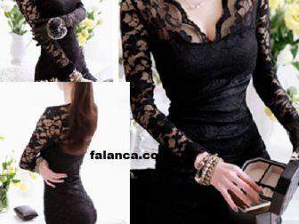 2015 Siyah Elbise Modası