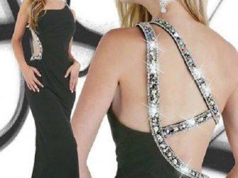 2015 Yeni Abiye Modelleri Siyah Tasli Sade