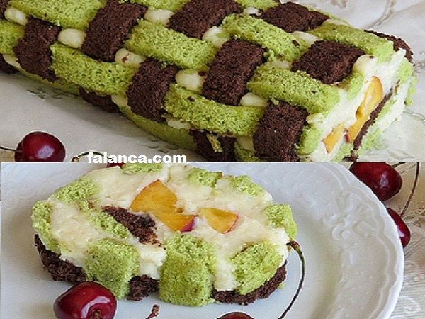 Ispanaklı Kafes Pasta Tarifi
