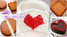 İçi Kalpli Pasta Tarifi