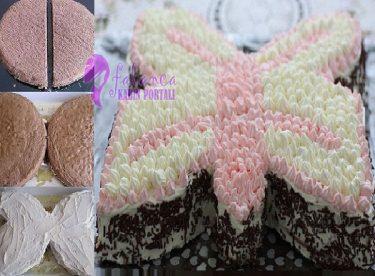 Kelebekli Doğum Günü Pastası Yapılışı