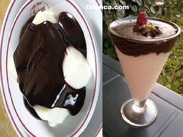 Çikolata Soslu Kremalı Tatlı