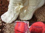 Yaprak Deseni Çorap Patik - 1
