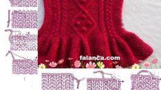 Fırfırlı Örgü Çocuk Elbise