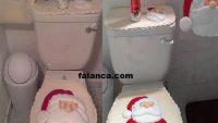 Aplike Noel Baba Klozet Takımı Yapımı