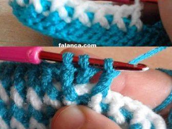 Mavi Beyaz Bebek Bot Patik 3