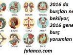 2016 Genel Burc Yorumlari