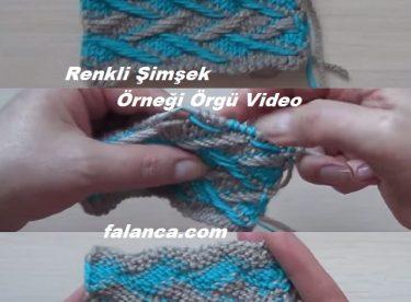 Renkli Şimşek Örneği Video