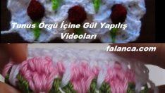 Tunus İşi Örgü İçine Gül Yapılış Videoları
