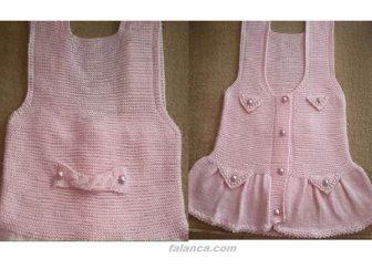 Incili Pembe Bebek Elbisesi Tarifi 3