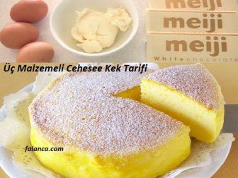 Cheese Kek Uc Malzemeli