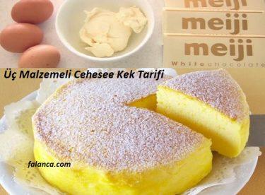 Üç Malzemeli Cheese Kek Tarifi