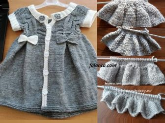 Elbise Seklinde Pileli Bebek Yelek