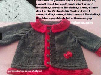 Elbise Seklinde Pileli Bebek Yelek 1