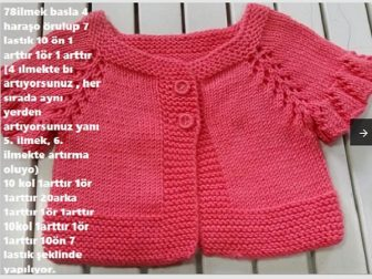 Elbise Seklinde Pileli Bebek Yelek 2