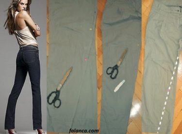 Evde Pantolon Bacak Daraltma