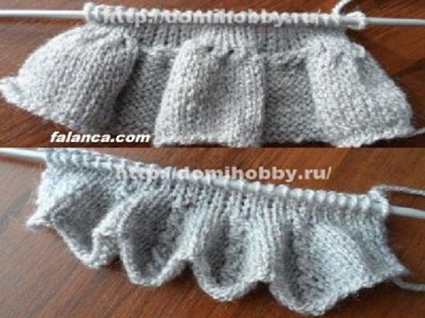 Elbise Şeklinde Pileli Bebek Yeleği Yapılışı 1