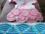 Renkli Tig Isi Bebek Elbisesi