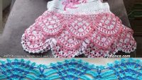 Renkli Tığ İşi Bebek Elbisesi Yapılışı