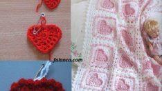 Kabartmalı Kalp Desenli Kız Bebek Battaniyesi