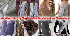 BAYAN ÖRGÜ YELEK MODELLERİ 150+