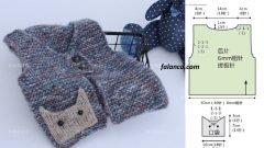 Tor Kedi Cepli Erkek Bebek Yelek Modeli
