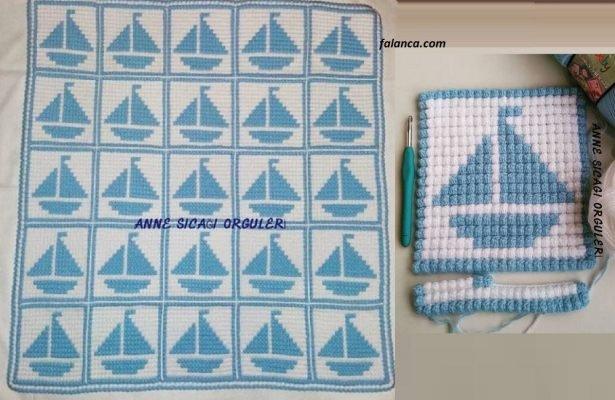 Gemili Kabartmalı Bebek Battaniye Modeli