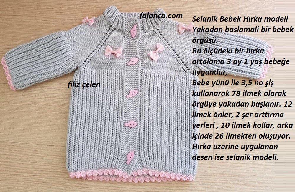 Selanik Bebek Hırka modeli
