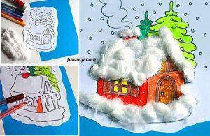 Okul Öncesi Kış Evi Çalışması 2