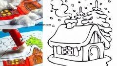 Okul Öncesi Kış Evi Çalışması