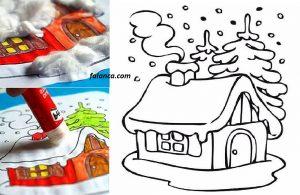Okul Öncesi Kış Evi Çalışması 1