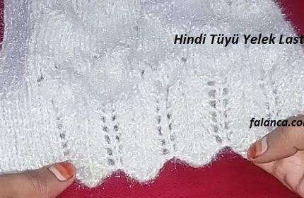 Hindi Tüyü Yelek Lastik Modeli