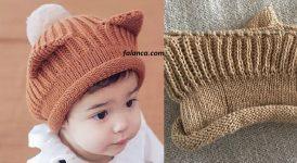Kulaklı Çocuk Şapka Modeli 1