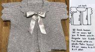 Üçgen Kollu Bebek Yelek Modeli -1