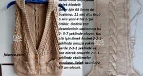 Derin Önlü Kapüşonlu Yelek Modeli 1