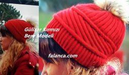 Gülizar Kırmızı Bere Modeli 4
