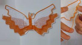 Havlu Göbek Kelebekli Dantel Modeli 1