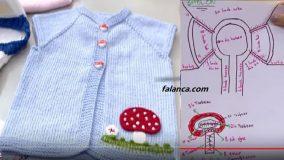 Mantarlı Bebek Yelek Modeli