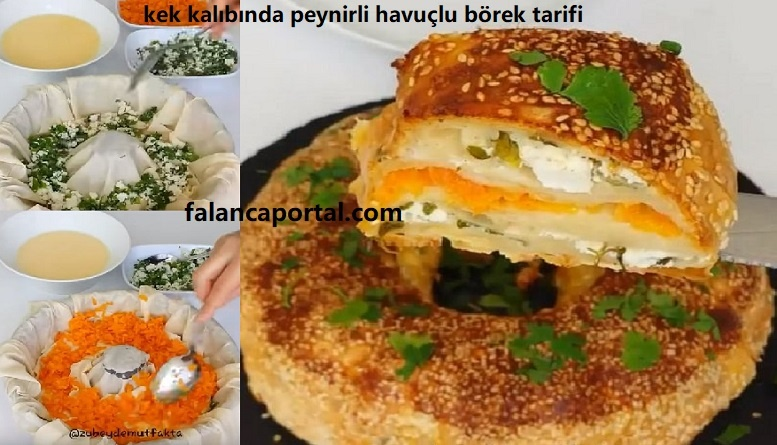 Kek Kalıbında Peynirli Havuçlu Börek Tarifi