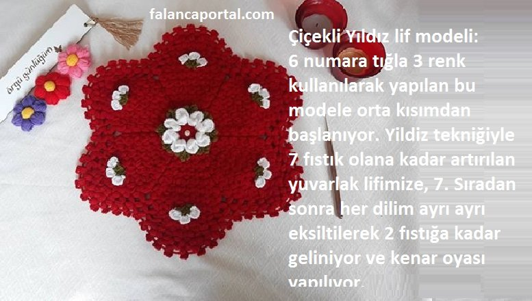 Çiçekli Yıldız Lif Modeli