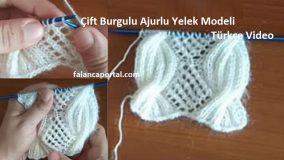 Çift Burgulu Ajurlu Yelek Modeli Türkçe Video 1
