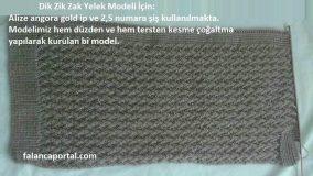 Dik Zik Zak Yelek Modeli 2