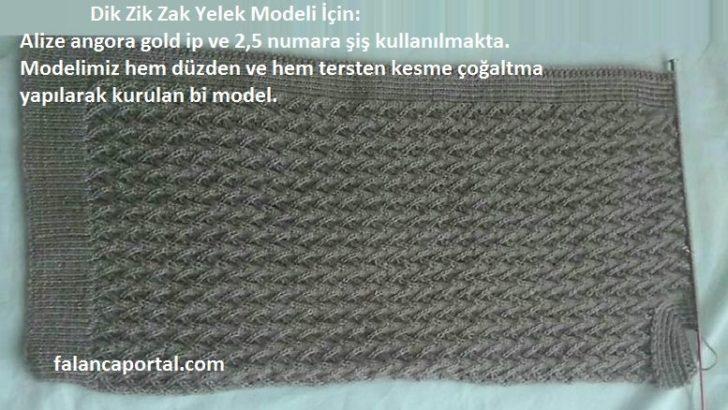 Dik Zik Zak Yelek Modeli
